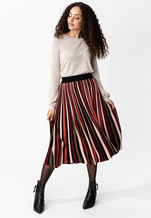 SUNRAY - A-line skirt - black/orange