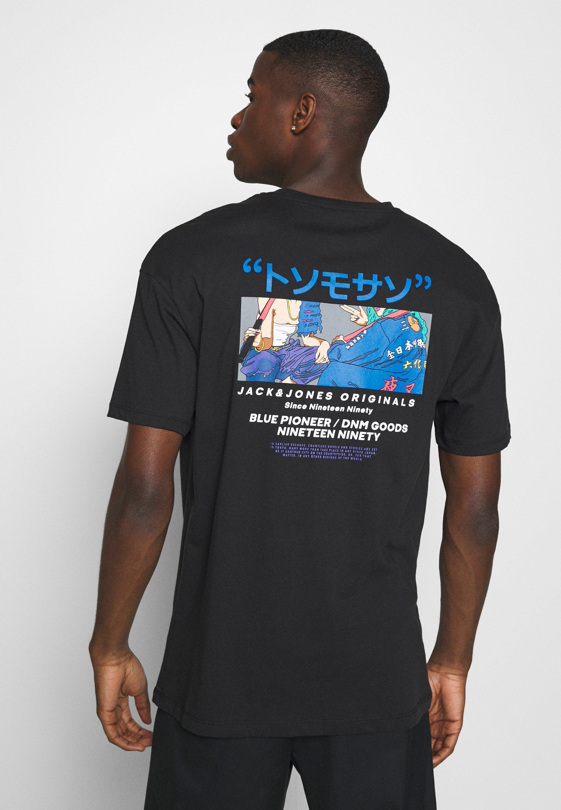Jack & Jones JORTOK TEE CREW NECK - Print T-shirt - black aRknx