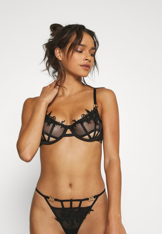 PRISCILLA BRA - Underwired bra - black