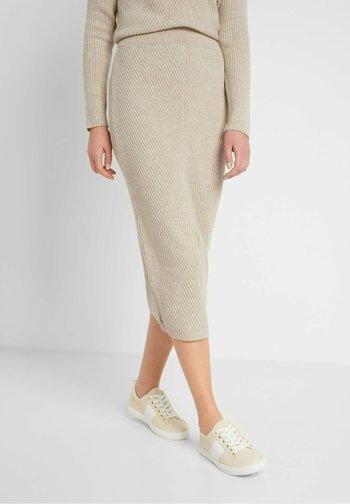 Pencil skirt - zementgrau