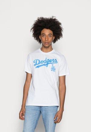 LOS ANGELES DODGERS PUFFED ECHO TEE - T-shirt print - white wash