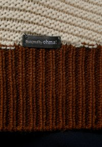 ohma! - NURSING STRIPPED WITH BUTTONS - Trui - brown - 6