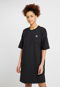 adidas Originals - TREFOIL DRESS - Jerseyjurk - black - 0
