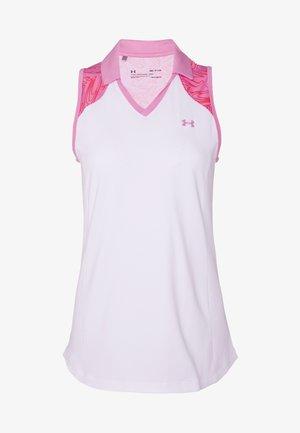 ZINGER SLEEVELESS BLOCKED - T-shirt sportiva - white/lipstick