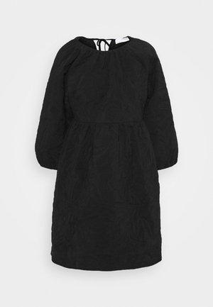 SLFKVIST  QUILTED DRESS - Day dress - black