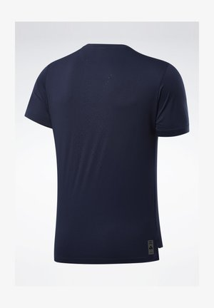 UNITED BY FITNESS PERFORATED T-SHIRT - T-shirt imprimé - blue