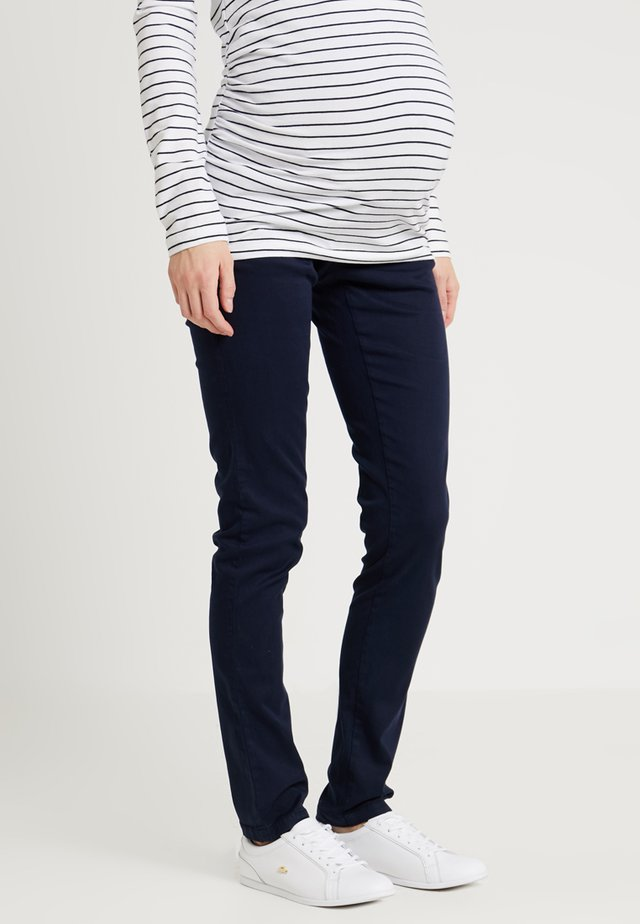 ÜBERBAUCHBUND - Pantalon classique - peacoat/blue