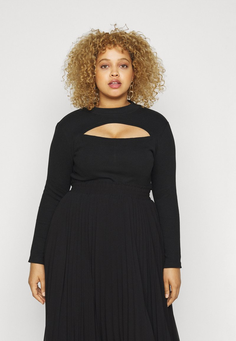 Vero Moda Curve - VMSANDRO - Long sleeved top - black