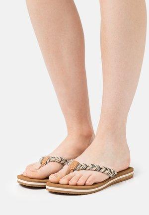 CUSHION BREAK - Sandály s odděleným palcem - black/multicolor