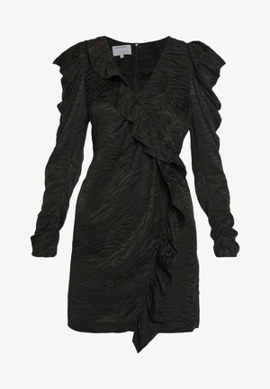 RUBY RUFFLE DRESS - Vestito elegante - black