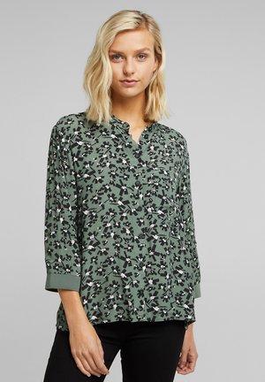 Button-down blouse - light khaki