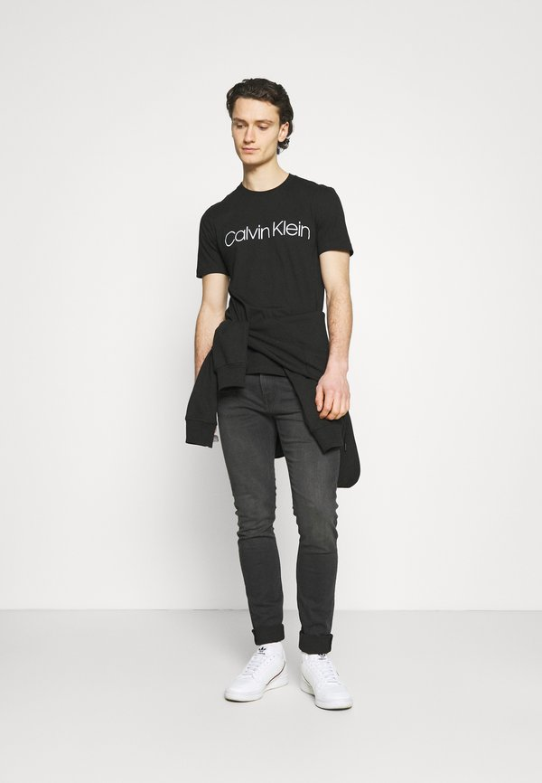 Calvin Klein FRONT LOGO 2 PACK - T-shirt z nadrukiem - black/czarny Odzież Męska JNZV