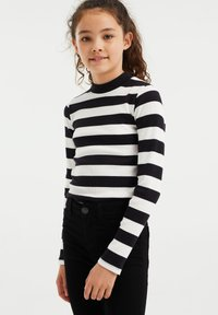 WE Fashion - ROLNEK - Long sleeved top - black - 1