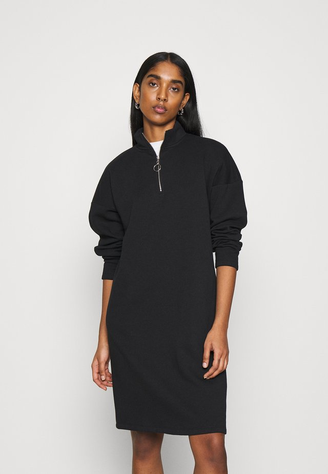 NMPERI ASYA HIGHNECK DRESS - Day dress - black