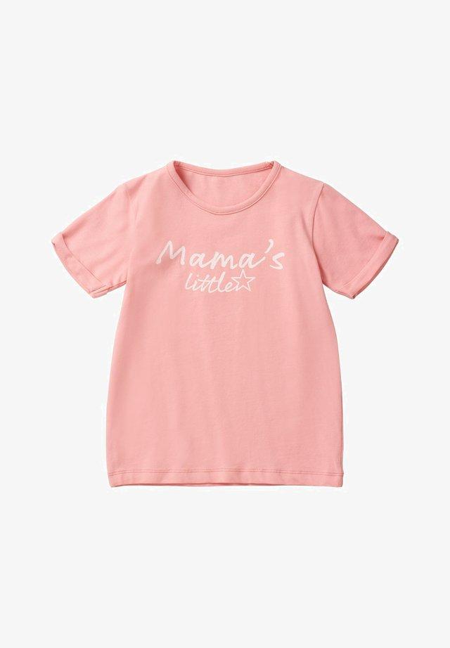 Print T-shirt - peaches n cream