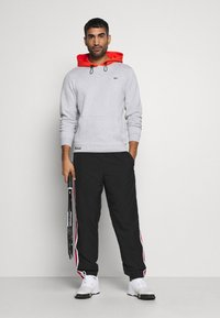 Lacoste Sport - COLOURED HOOD - Sweatshirt - silver chine/gladiolus - 1