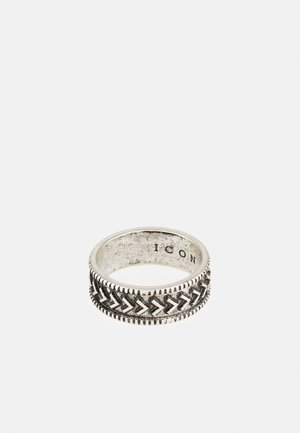 BRUTALIST PATTERN ROUND - Bague - silver-coloured