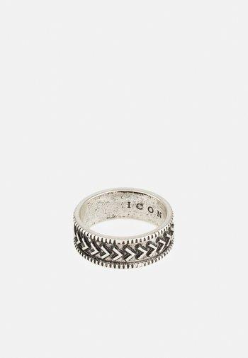 BRUTALIST PATTERN ROUND - Ringar - silver-coloured