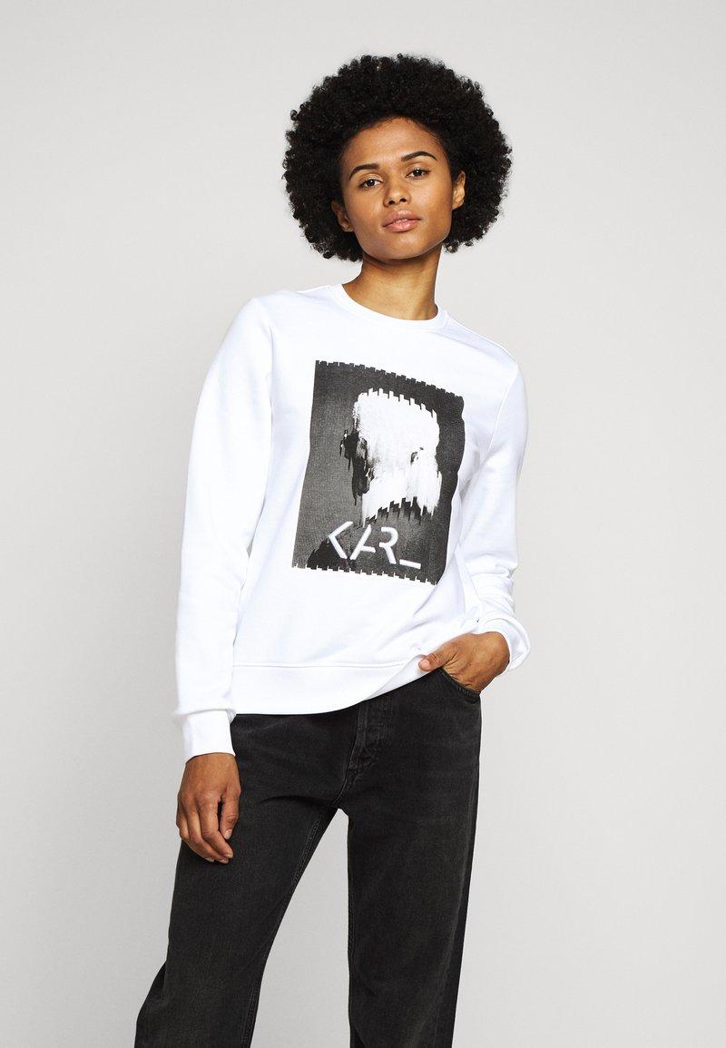 KARL LAGERFELD - LEGEND PRINT - Sweatshirt - white