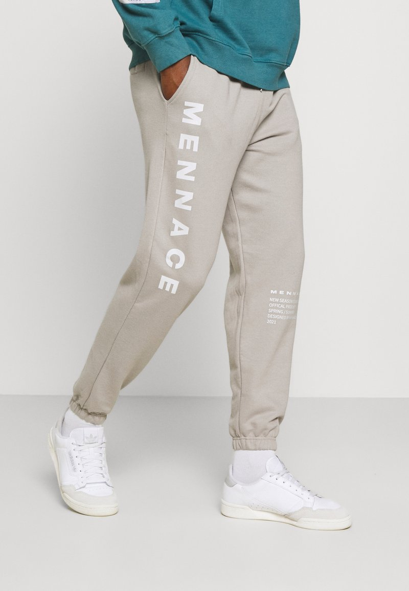 Mennace - ON THE RUN - Pantalon de survêtement - grey