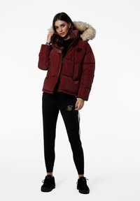 SIKSILK - Winterjas - burgundy - 3