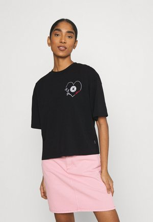 CHUCK WOMENS LOVE BOXY TEE - Print T-shirt - converse black