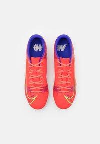 Nike Performance - MERCURIAL VAPOR 14 ACADEMY FG/MG - Fotbollsskor fasta dobbar - bright crimson/metallic silver - 3