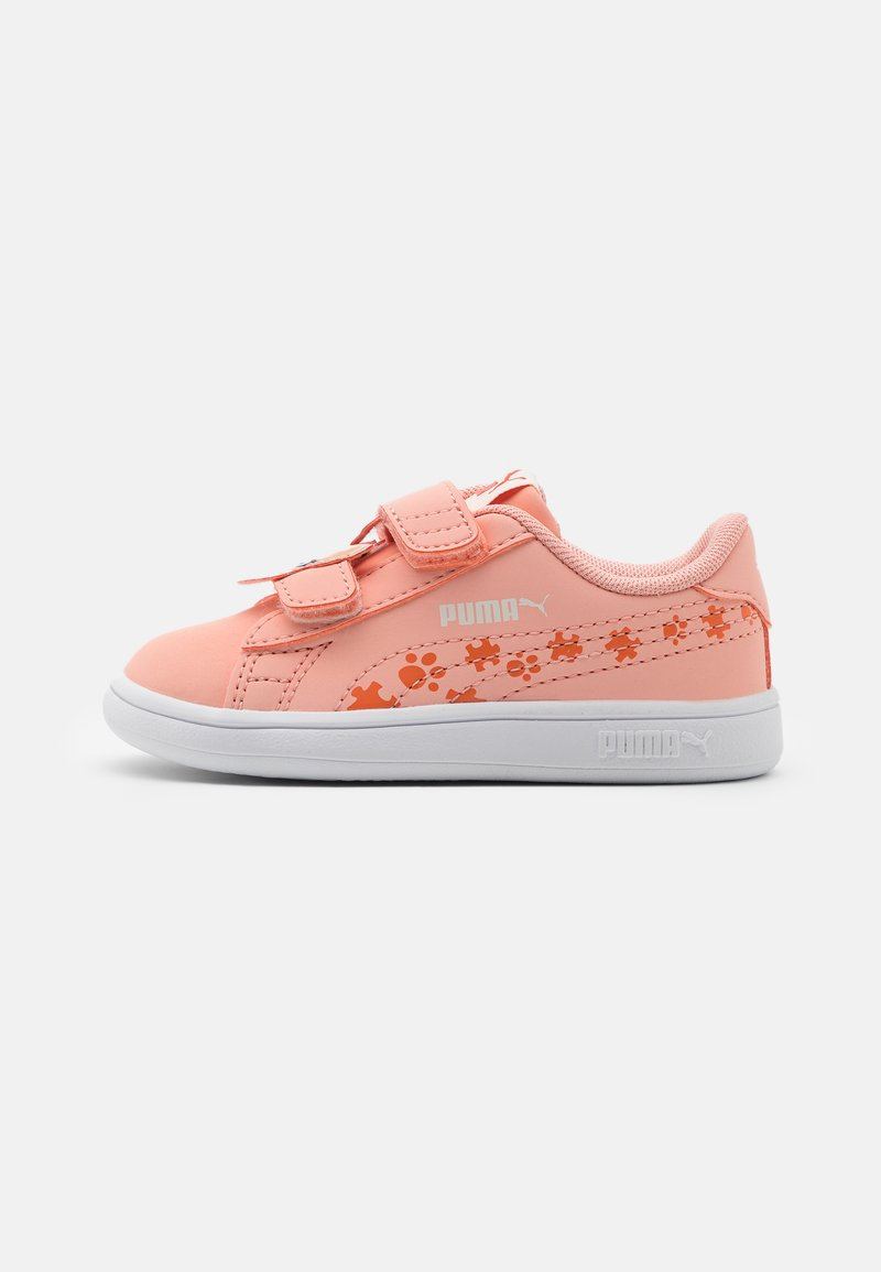 Puma - SMASH V2 SUMMER ANIMALS - Sneakers laag - apricot blush/tigerlily