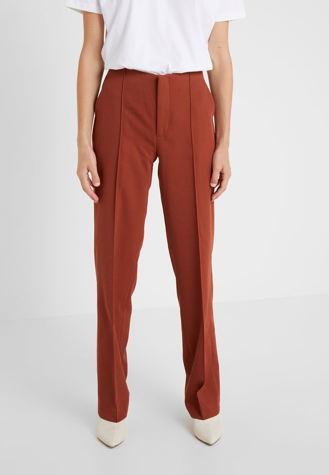 SARA PANTS - Trousers - caramel