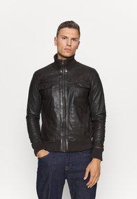 Serge Pariente - DANY - Leather jacket - brown - 0