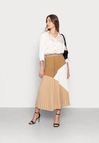Mos Mosh - MORELLA PLISSE SKIRT - Pleated skirt - incense - 1