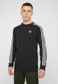 adidas Originals - 3 STRIPES CREW UNISEX - Sweatshirt - black - 0