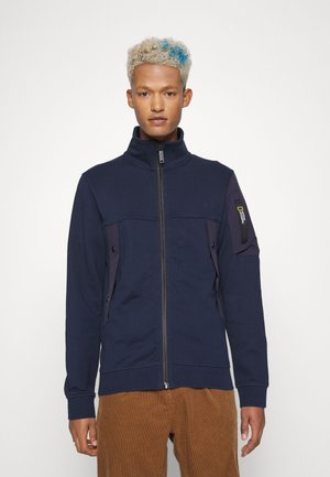 ZIPPED WITH STAND UP COLLAR - Sweater met rits - navy