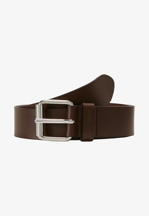 SCRIPT BELT  - Belt - dark brown/silver-coloured
