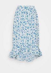 Pieces Petite - PCPIPA MIDI SKIRT - A-line skirt - bright white/blue - 0