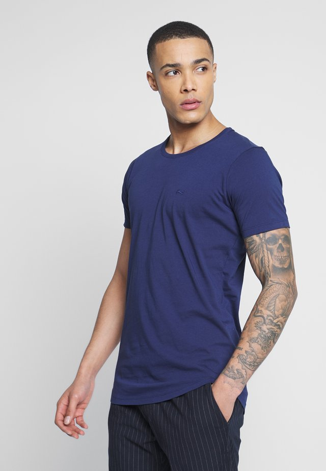 LUIS LONGLINE TEE - T-shirt basic - mediaval blue
