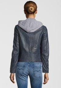 Gipsy - TALIDA - Leather jacket - denim blue - 1
