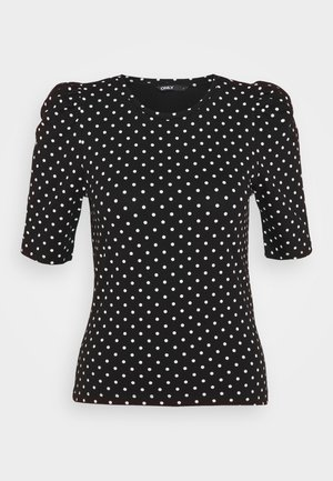 ONLMAYA LIVE LOVE PUFF - Blouse - black/white