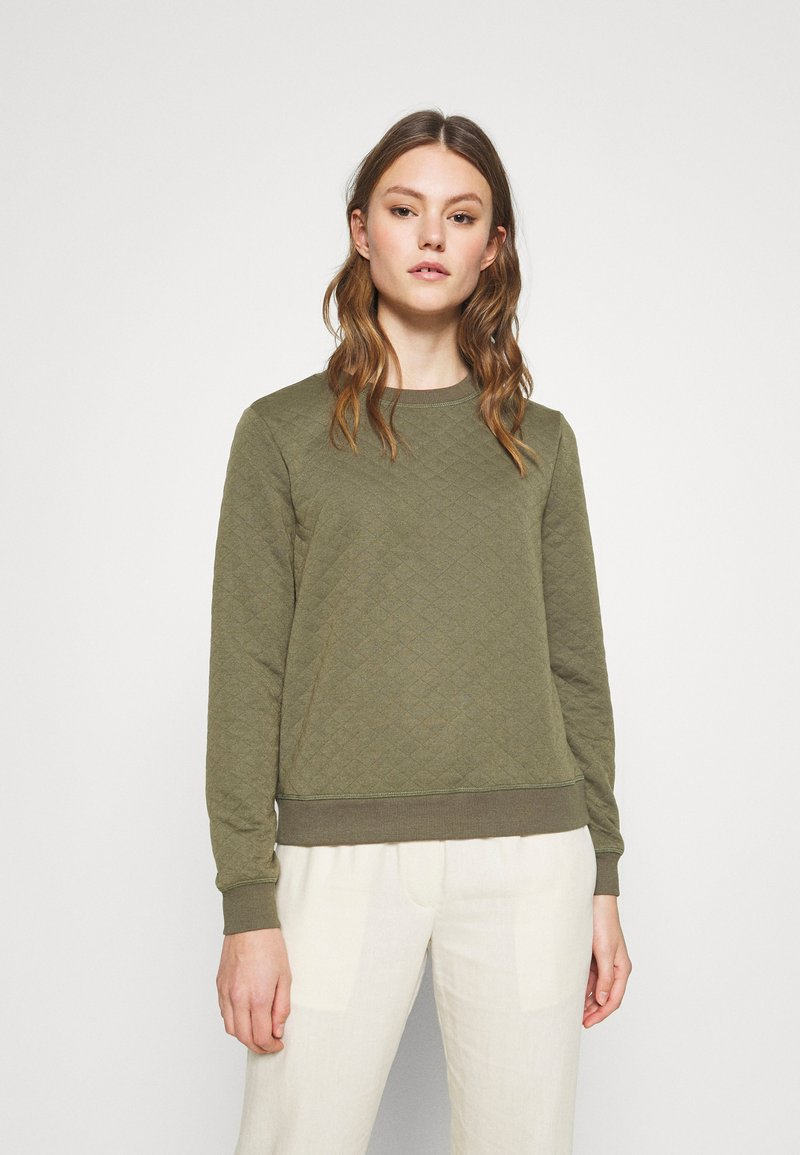 ONLY - ONLJOYCE O-NECK  - Sweatshirt - khaki