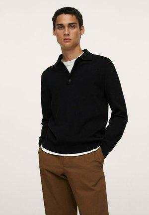 PUNTO MANGA LARGA - Polo shirt - black