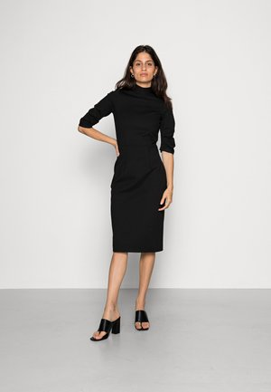 HIGH COLLAR PENCIL DRESS - Etui-jurk - black