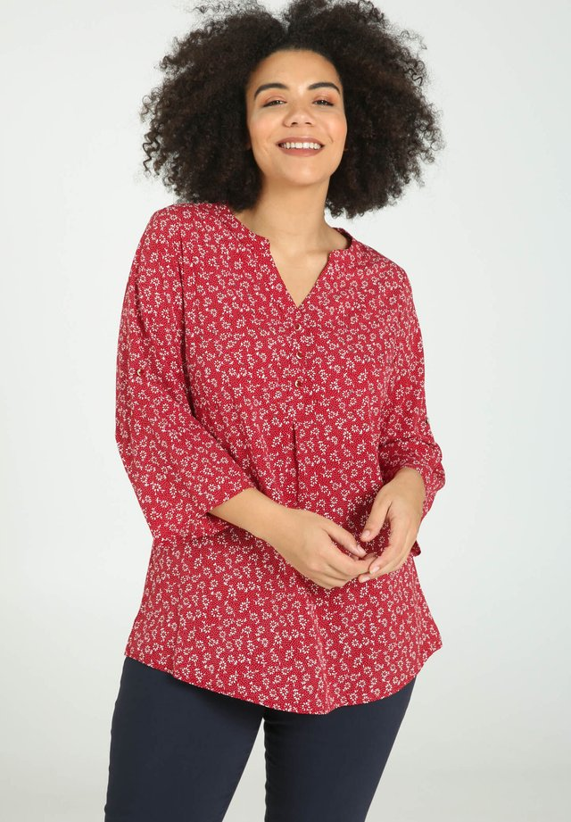 MIT STREUBLUMEN  - Blouse - red
