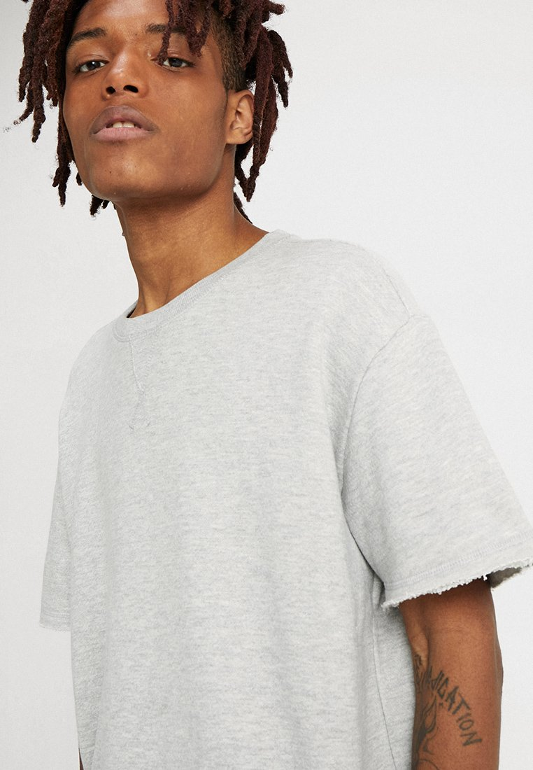 Urban Classics Herirngboneterry Tee - T-shirts Light Grey/lysgrå