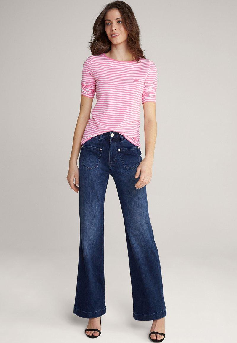 JOOP! - Long sleeved top - pink/weiß gestreift