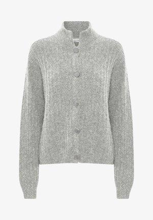 ALPIAGZ BOXY - Cardigan - high-rise grey melange