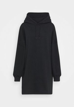 OVERSIZED HOODIE DRESS - Day dress - black