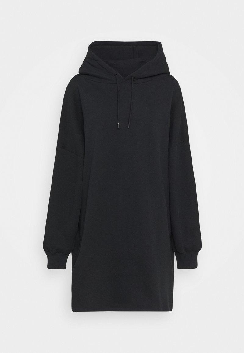 NU-IN - OVERSIZED HOODIE DRESS - Kjole - black
