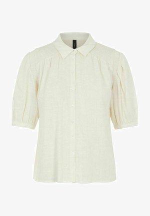 Button-down blouse - eggnog