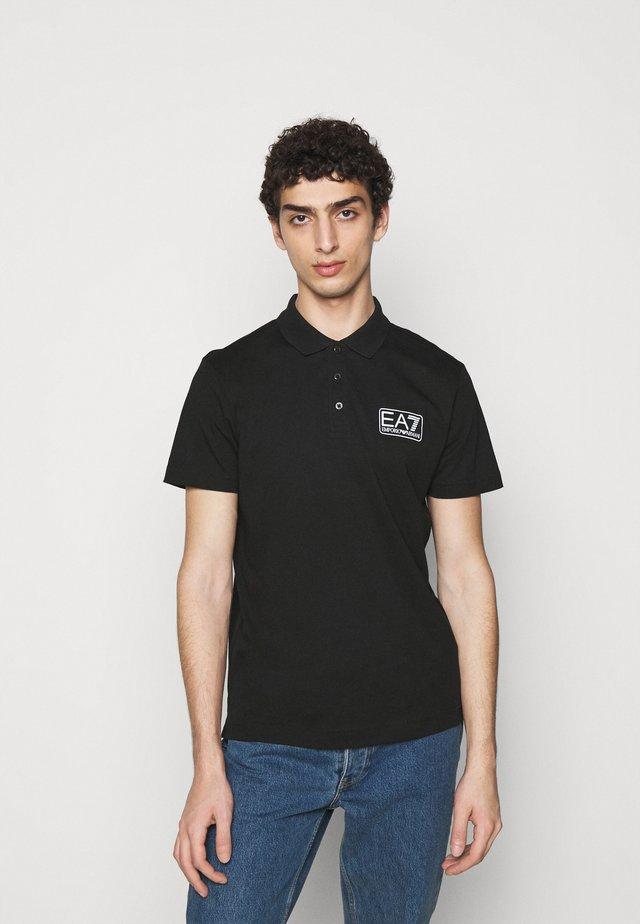 Poloshirt - black/white