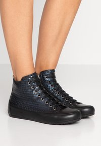 Candice Cooper - PLUS - Sneakers high - ninja blu/nero - 0